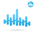 Equalizer bar eq 2d icon vector image vector image