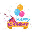 flat happy birthday background vector image vector image