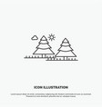 forest camping jungle tree pines icon line gray vector image