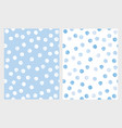 funny grunge blue and white dots patterns vector image