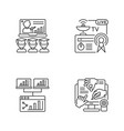 global communications linear icons set vector image
