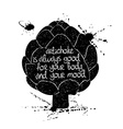 Graphic Of Isolated Artichoke Silhouette vector image vector image