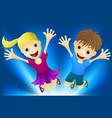 happy children jumping for joy vector image vector image