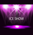ice show inscription lighting of the rink vector image vector image