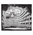 interior of her majestys theatre are drawing vector image vector image