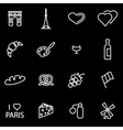 Line paris icon set