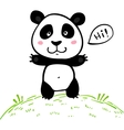 Little cute doodle drawing panda vector image vector image