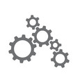 machinery gears vector image