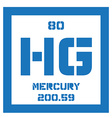 Mercury chemical element vector image vector image