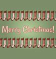 merry christmas stockings postcard vector image vector image