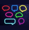 neon signs set vector image vector image