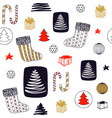 new year seamless pattern with christmas stocking vector image vector image