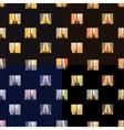 Night town windows seamless patterns set vector image