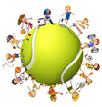 People doing different sport vector image vector image