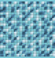 pixel abstract blue mosaic background vector image