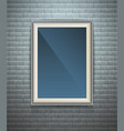 Realistic blank poster in a wooden picture frame vector image vector image