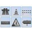 road work symbols vector image vector image