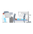 robot assisted surgery flat vector image