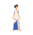 roman woman in traditional clothes ancient rome vector image vector image