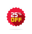 sale tag badge template 25 percent off vector image