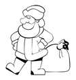 SantaClaus isolated BW vector image vector image