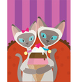 Siamese Cats Ice Cream vector image vector image