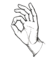 Sketch gesture vector image vector image
