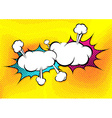 Speech explosion bubble collision pop-art style vector image vector image