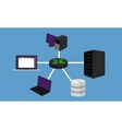 star network topology LAN design networking vector image vector image