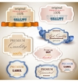 Superior Quality Satisfaction Label vector image
