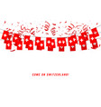 switzerland garland flag with confetti vector image vector image