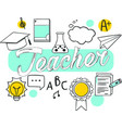 teacher on white background vector image