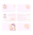 Template six card woman in turban vector image
