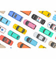 top view colorful cars seamless pattern vector image vector image