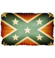 vintage us confederate flag poster background vector image vector image