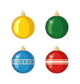 Set of Christmas balls icons in flat style vector image