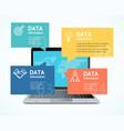 computer communication concept business vector image