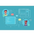 Business concept of cowork designer and programmer vector image