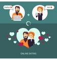 on-line dating vector image