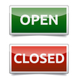 OPEN - CLOSED color board with shadow on white vector image