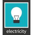 Simple stylish icon bulb electro design vector image