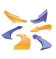 3d arrows vector image vector image