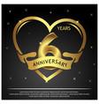 6 years anniversary golden anniversary template