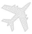 aircraft polygonal frame mesh vector image vector image