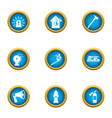 announcement icons set flat style vector image vector image