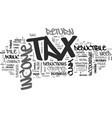 are you ready for tax day text word cloud concept vector image vector image