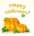 Big Halloween pumpkins with sign vector image