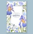 blue flower frame vector image vector image