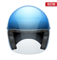 Blue motorbike classic helmet with clear glass vector image vector image