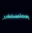 blue neon skyline new york city bright nyc vector image vector image